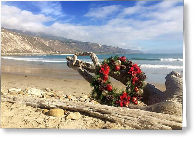 Casual California Holiday Greeting Card by Sharon and Kailey Sayre