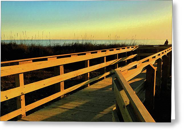Caswell Sunset Greeting Card