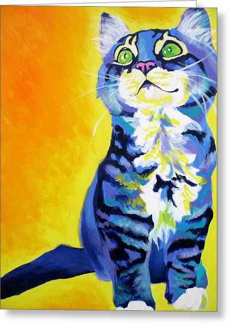 Alicia Vannoy Call Paintings Greeting Cards - Cat - Here Kitty Kitty Greeting Card by Alicia VanNoy Call