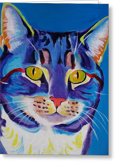 Alicia Vannoy Call Paintings Greeting Cards - Cat - Lady Spirit Greeting Card by Alicia VanNoy Call