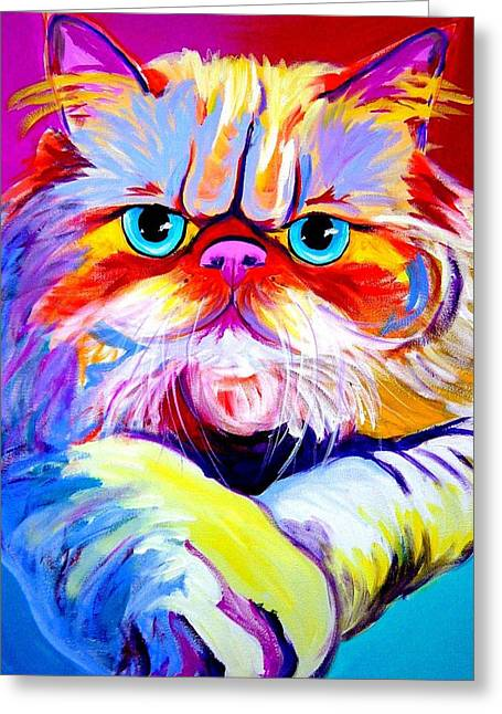 Alicia Vannoy Call Paintings Greeting Cards - Cat - Tigger Greeting Card by Alicia VanNoy Call