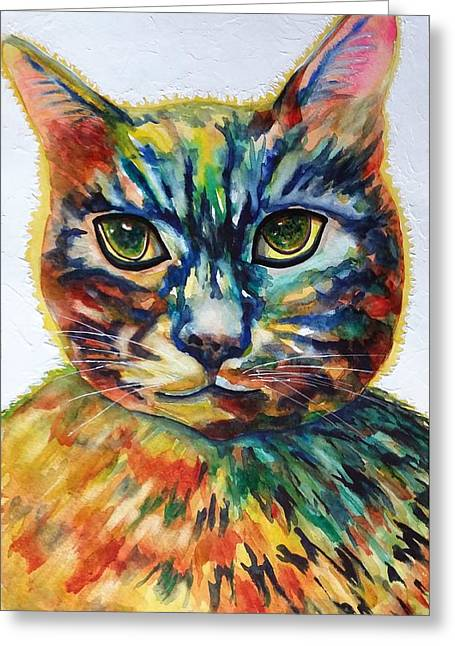 Cat A Tude Greeting Card