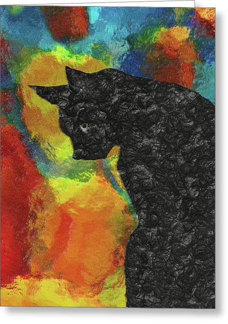 Cat Abstract Greeting Card