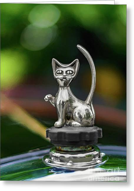 Cat Bonnet Mascot Greeting Card