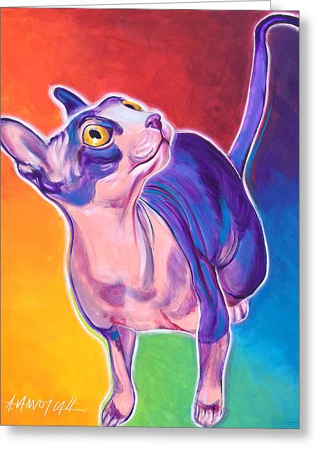 Cat - Bree Greeting Card by Alicia VanNoy Call
