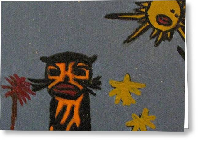 Cat Catching Rays Greeting Card by Shelly Wiseberg