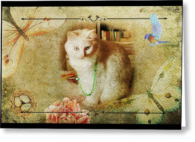 Kitty Cat Composite Art II Greeting Card