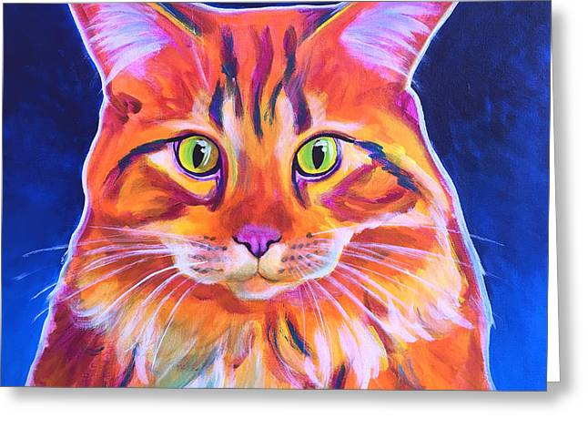 Cat - Cosmo Greeting Card by Alicia VanNoy Call
