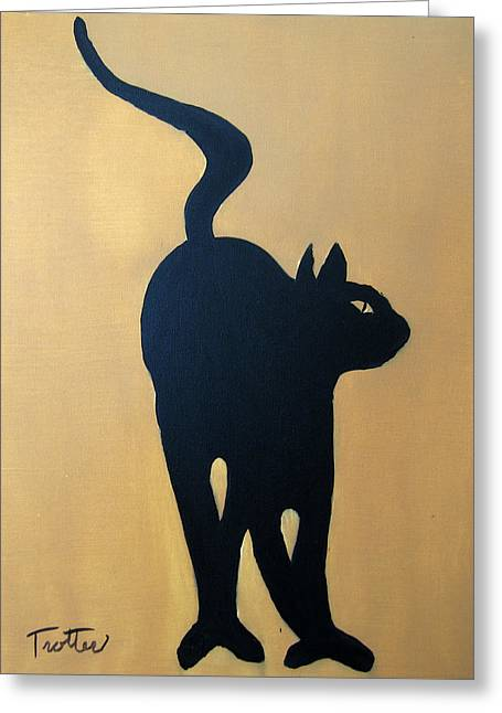 Cat Dance..... Optical Illusion Greeting Card by Patrick Trotter