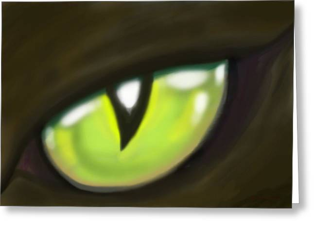 Cat Eye Greeting Card by Kevin Middleton