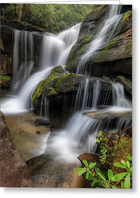 Cat Gap Loop Trail Waterfall Greeting Card