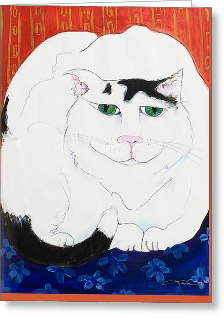 Cat II - Cat Dozing Off Greeting Card