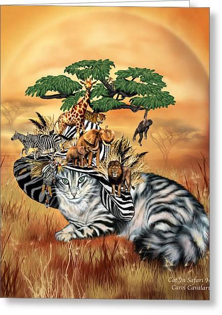 Cat In The Safari Hat Greeting Card