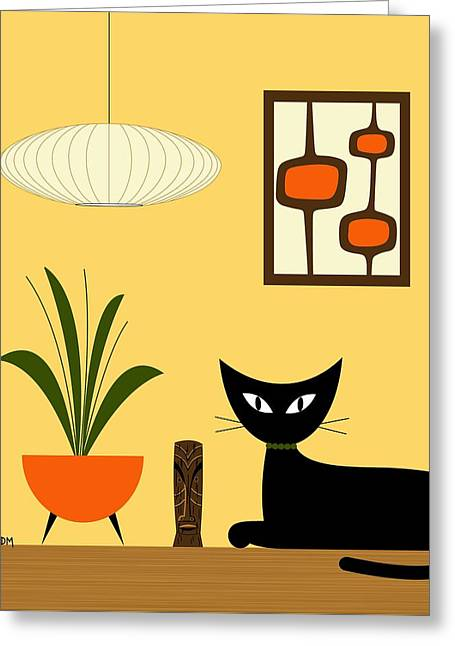 Cat On Tabletop With Mini Mod Pods 3 Greeting Card