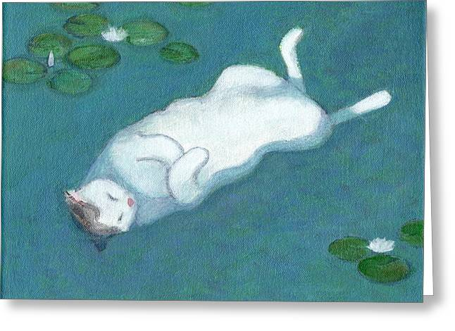 Cat On Vacation Greeting Card