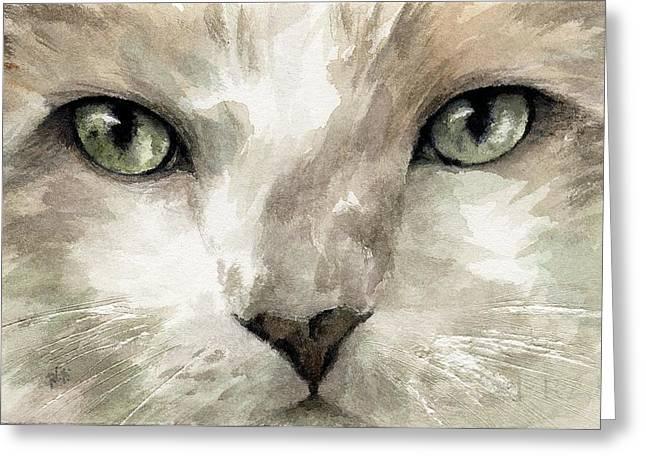 Cat Specific Disdain Greeting Card