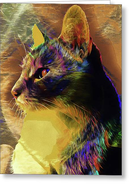 Cat Spirit Guide Greeting Card