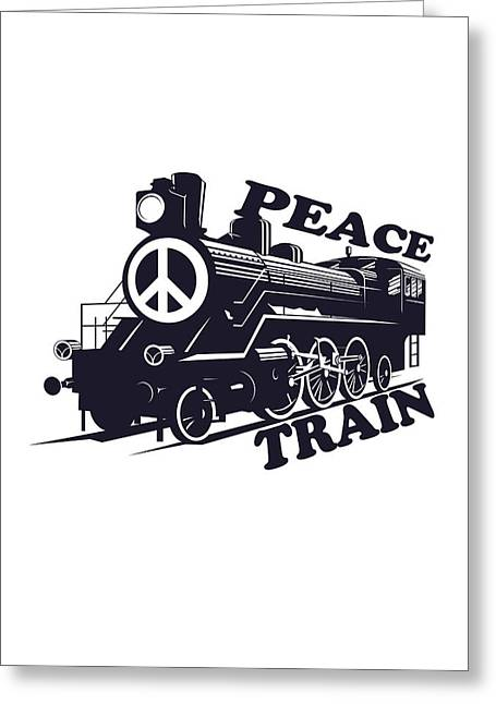 Cat Stevens - Peace Train Is Coming Greeting Card by Lee Brown