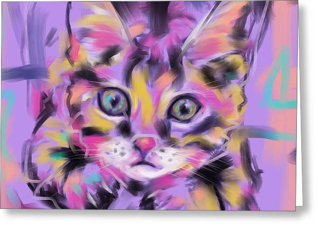 Cat Wild Thing Greeting Card
