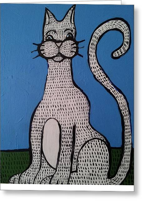 Bill Cat Greeting Card