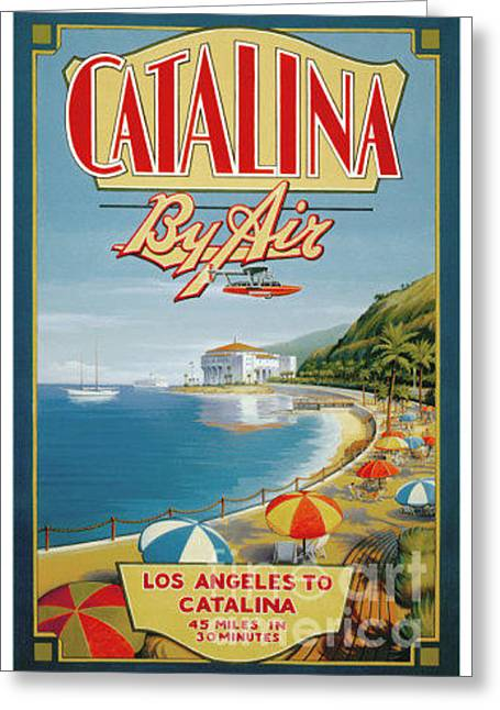 Catalina By Air Greeting Card