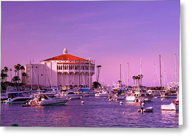 Catalina Casino Greeting Card by Marie Hicks