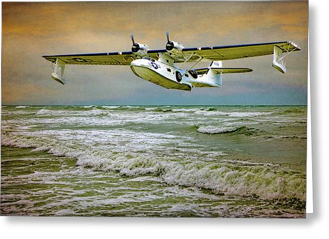 Catalina Flying Boat Greeting Card by Chris Lord
