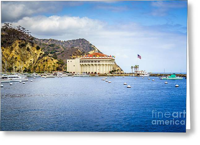 Catalina Island Casino Avalon Bay Picture Greeting Card by Paul Velgos