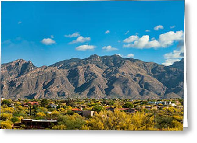 Greeting Card featuring the photograph Catalina Mountain Panorama by Dan McManus