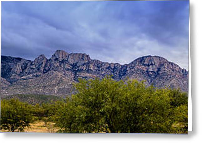 Greeting Card featuring the photograph Catalina Mountains P1 by Mark Myhaver