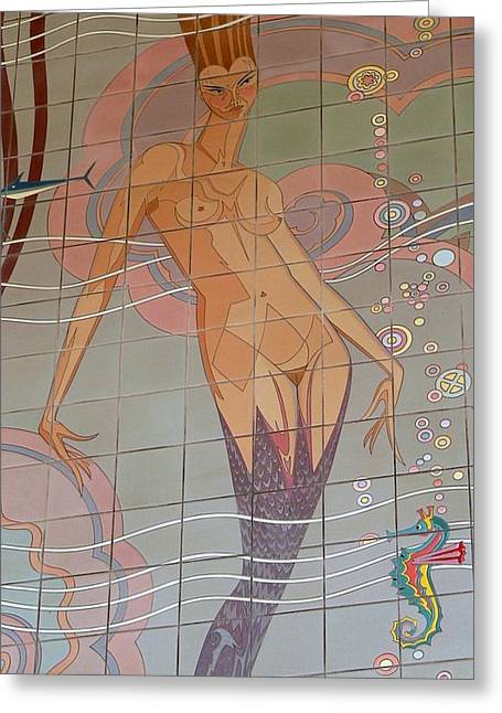Catalina Tile Mermaid Greeting Card