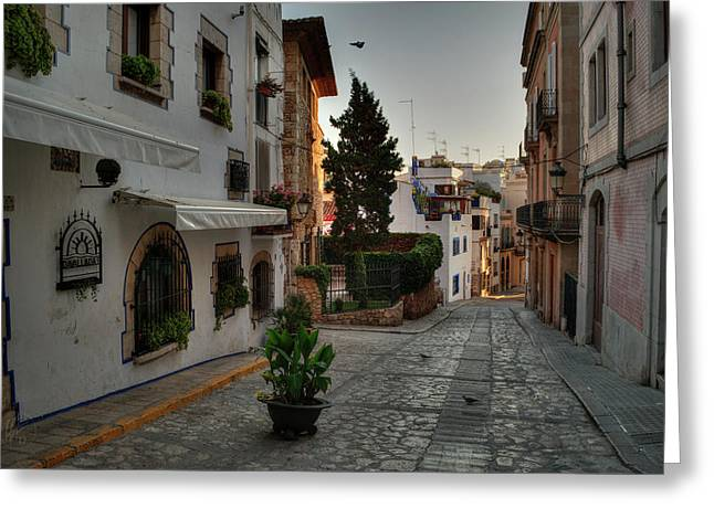 Greeting Card featuring the photograph Catalonia - The Town Of Sitges 003 by Lance Vaughn