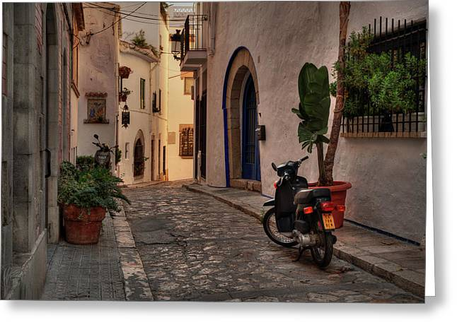 Greeting Card featuring the photograph Catalonia - The Town Of Sitges 004 by Lance Vaughn