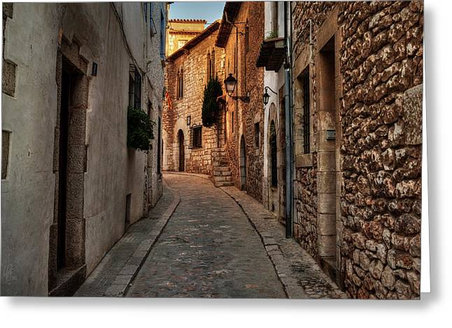 Greeting Card featuring the photograph Catalonia - The Town Of Sitges 006 by Lance Vaughn