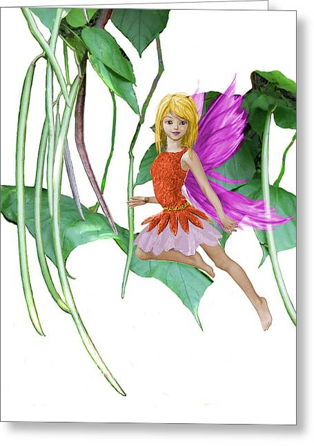 Catalpa Tree Fairy Among The Seed Pods Greeting Card