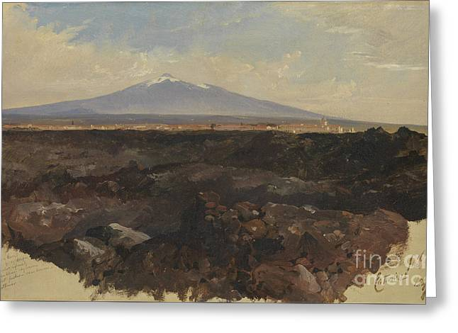 Catania And Mount Etna Greeting Card