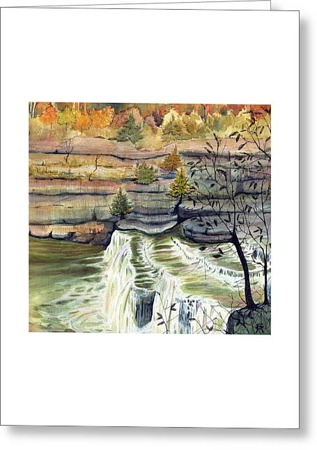 Cataract Falls Greeting Card