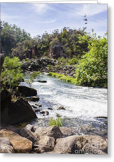 Cataract George Landscape In Launceston Tasmania Greeting Card