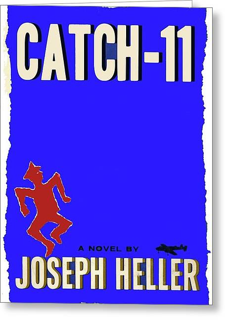 Catch 22 Novel Cover 1961 Jagged Border Added 2016 Greeting Card by David Lee Guss