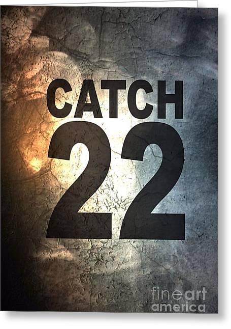 Catch 22 Textured Greeting Card by Brian Raggatt