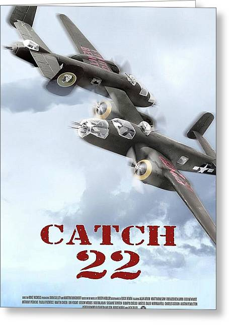Catch 22 Theatrical  Poster 1970 Greeting Card by David Lee Guss