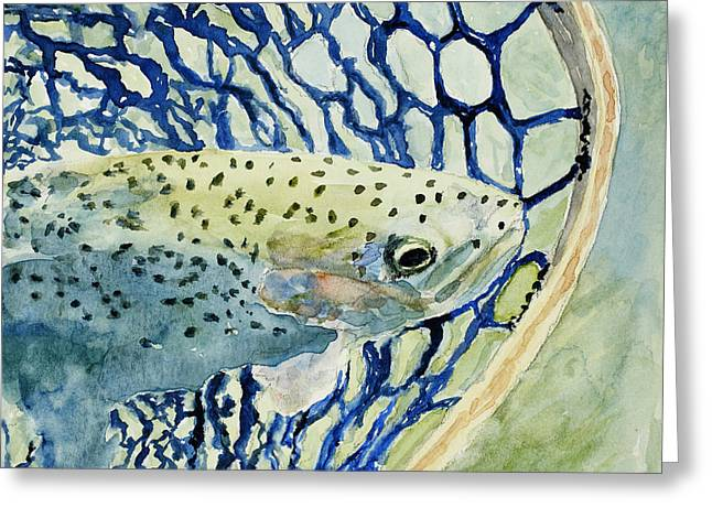 Catch And Release Greeting Card by Mary Benke