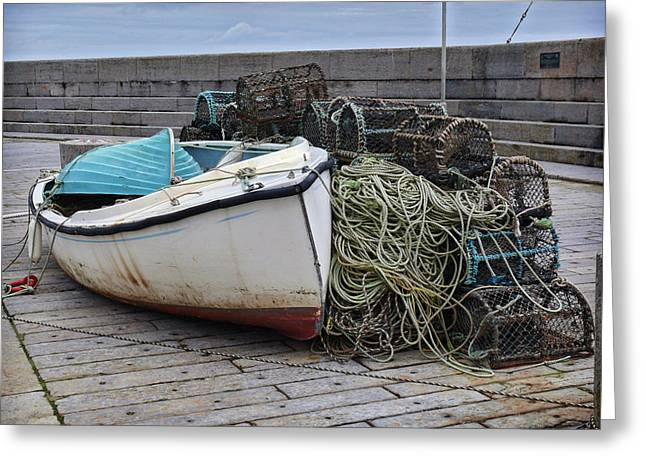 Catch Of The Day At Donaghadee Harbour Greeting Card