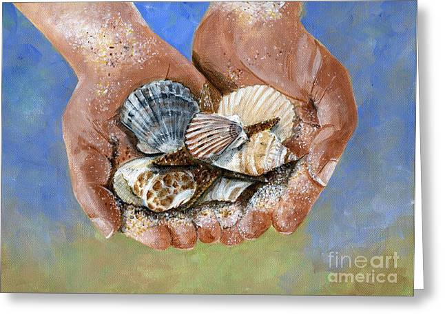 Catch Of The Day Greeting Card by Sheryl Heatherly Hawkins