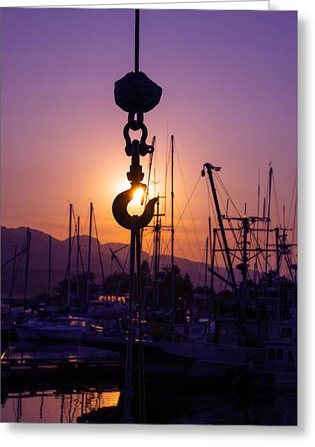 Catch Of The Day Greeting Card by Wayne Enslow