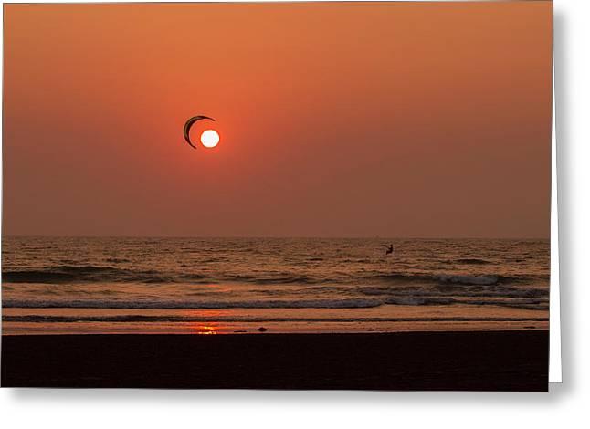 Catch The Sun Greeting Card by Hitendra SINKAR