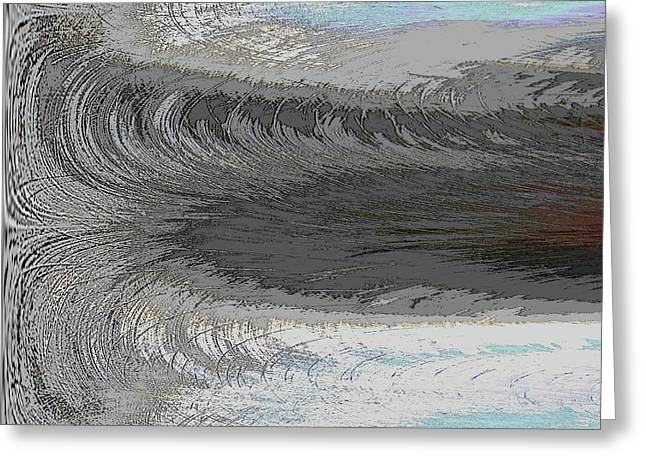 Abstract Waves Greeting Cards - Catch The Wave Greeting Card by Tim Allen