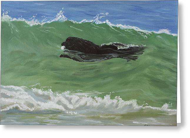 Catching A Wave Greeting Card by Sharon Nummer