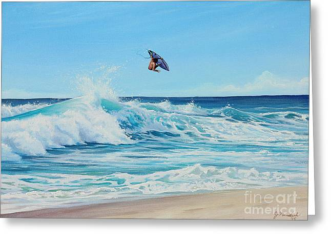 Catching Air Greeting Card by Joe Mandrick