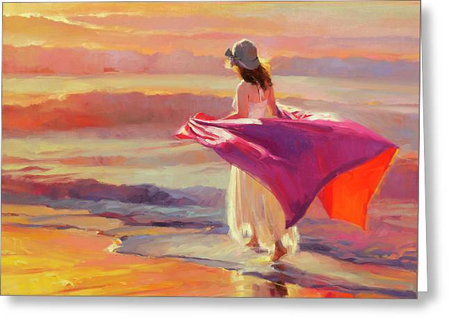 Catching The Breeze Greeting Card by Steve Henderson